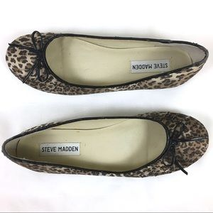 Steve Madden Leopard Animal Print Ballet Flat Bow